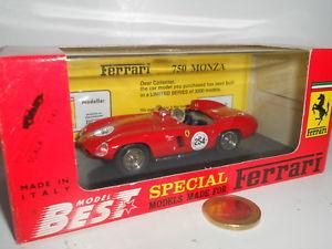 【送料無料】模型車 モデルカー スポーツカーモンツァミッレミリアストレートスケールbest ferrrari 750 monza mille miglia 92 j straight pr05 143 scale 0160532
