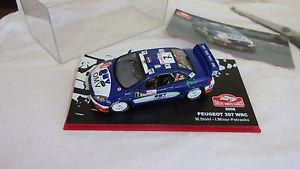 【送料無料】模型車 モデルカー スポーツカープジョーラリードモンテカルロパイロットマイナーpeugeot 307 wrc rallye de monte carlo 2006 pilot stohl, minor, petrasko