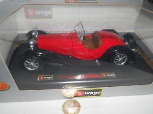 【送料無料】模型車 モデルカー スポーツカーブガッティタイプスケールburago bugatti type 55 1932 124 scale rare 150759