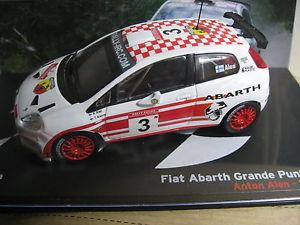 【送料無料】模型車 モデルカー スポーツカーフィアットアバルトグランデプントラリーロシアfiat abarth grande punto s2000 rallye russian alen alanne 2007