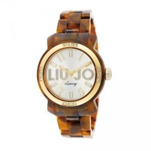 リュージョーマイアミゴールドブラウンorologio donna liu jo luxury miami tlj695 tartaruga gold swarowski marrone