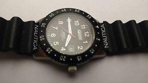 クロックナイトライトウォッチorologio watch montre nautica n06511 indiglo night light  quarzo