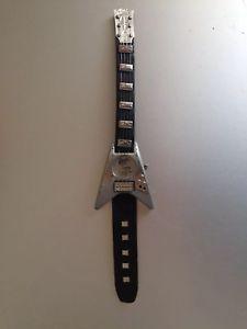 クロックギターギブソンフライングスチールロックレザーストラップ