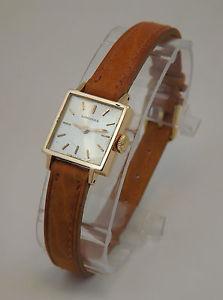 【送料無料】スクエアピンクゴールドktゴールドビンテージウォッチlongines orologio quadrato oro rosa 18 kt gold wrist vintage anni 50