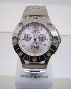 【送料無料】フィリップウォッチウォッチクロノスチールブレスレットorologio philip watchtemporada chrono 42mm 3h , bracciale acciaio:hokushin