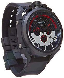【送料無料】ラバーストラップカラーwelder k362401 orologio da polso da uomo, cinturino in gomma colore g4w