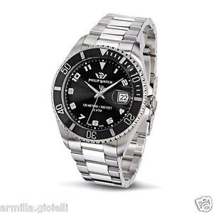【送料無料】フィリップウォッチカリブスイスシルバーブラックウォッチorologio philip watch prestige caribe r8253597008 uomo swiss made silver nero