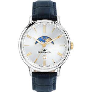 【送料無料】クロックマンフィリップウォッチorologio uomo philip watch tempo , data e fasi lunari truman r8251595001