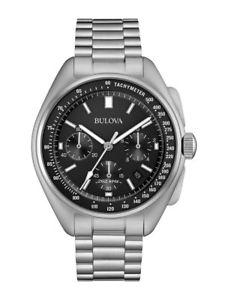 【送料無料】クロノグラフパイロットスチールストラップorologio bulova cronografo lunar pilot cinturino in acciaio ref 96b258 549