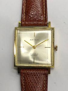 【送料無料】ビンテージクロックorologio arten in oro 750 18 kt carica mauale vintage anni 60 suisse made
