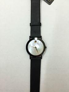 クロックゴールドスイスブラックレザーゴールドウォッチorologio movado gold donna museum swiss pelle nero watch leather oro 8740882