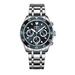 【送料無料】rotary gb9017005 orologio cronografo da polso, uomo, cinturino in q0s
