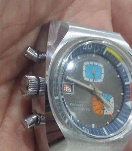 【送料無料】サブダイバークラウンd74 globus chronographe raro big massive sub diver waterproof 2 crown 196070