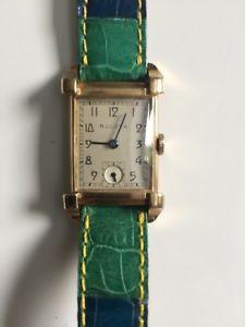 クロックビンテージラミネートゴールドorologio bulova vintage anni 30 laminato oro 10k