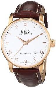 【送料無料】レザーストラップカラーmido m86002268 orologio da polso da uomo, cinturino in pelle colore z9c