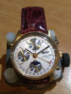 クラシッククロノグラフフェーズbiotron classic chronograph fasi lunari movimento eta valjoux 7751
