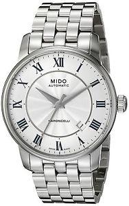 【送料無料】ミドブレスレットメートルmido baroncelli m86004211 orologio da polso da uomo, cinturino in w3m