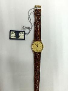 【送料無料】レディスキンorologio donna longines presences quartz pelle l42436329 gold watch oro 18 kt