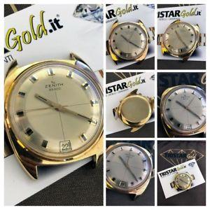 ビンテージktゴールドグラムzenith vintage date automatic  oro 18kt peso totale 27gr