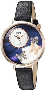 バールクオーツアナログburgi bur158bkr orologio da polso al quarzo, analogico, donna, pelle, t6l