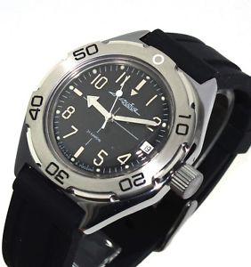【送料無料】ヴォストークダイバーウォッチロシアvostok amphibia automatic diver watch orologio russo 670921