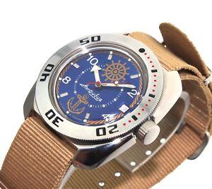 【送料無料】ヴォストークロシアダイバーウォッチサブvostok amphibia russian diver watch 200m sub 710374