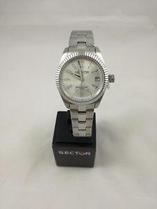 【送料無料】orologio donna sector 240 r3253579518 datario silver