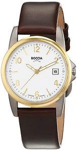 【送料無料】レザーストラップカラーboccia 308005 orologio da polso da donna, cinturino in pelle colore k9i