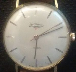 【送料無料】walthman 17jewels yellow gp 35mm serviced hand winding excellent cond lk