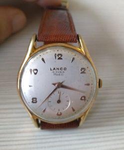 【送料無料】マニュアルクロックウォッチビンテージlanco 15 rubis mod ii cal 1222 manuale anni 60 orologio watch vintage 36mm