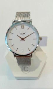 【送料無料】クロックファッションシルバーコードorologio moda cluse solo tempo donna minuit silver codice clucl30009 89,95