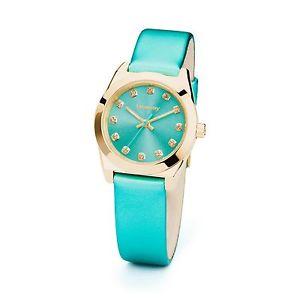 【送料無料】コレクションレザーストラップグリーンbrosway orologio donna collezione dco quadrante zirconi cinturino pelle verde