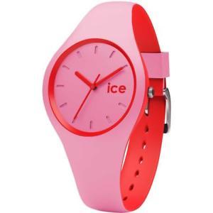 【送料無料】クロックデュオシリコンピンクメートルウォッチorologio ice watch duo icduoprd silicone rosa rosso small 100mt