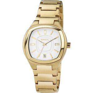 【送料無料】クロックゴールデンスチールbreil aida tw1416 orologio donna acciaio dorato data listino 160 sottocosto