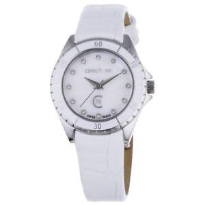 【送料無料】オリジナルホワイトスチールcerruti orologio da polso donna crm029n216b bianco originale acciaio placcato