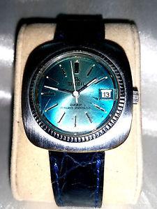 【送料無料】クロックウォッチビンテージorologio watch breil oversize 17 rubis vintage space age design