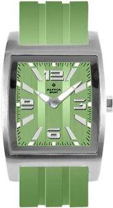 【送料無料】アルファプラスチックalpha saphir 230e orologio da polso, uomo, plastica, colore verde p0w
