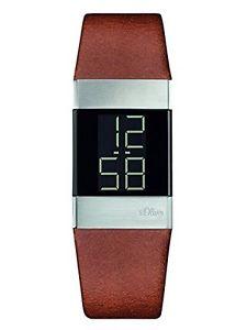 【送料無料】デジタルクォーツオリバーカフs oliver bracciale da donna orologio digitale al quarzo, pelle h3l
