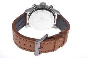クロノグラフスキンaccurist orologio da polso cronografo uomo pelle