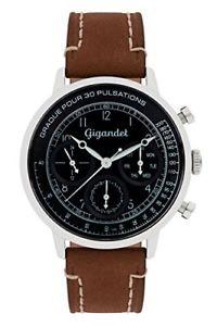 【送料無料】カラーmarrone gigandet g45003 orologio da polso uomo, pelle, colore m7a