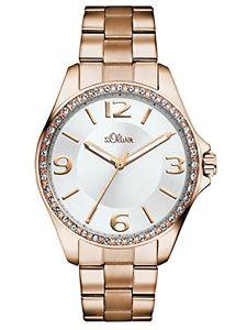【送料無料】オリバースチールストラップメートルsoliver so2967mq orologio da polso da donna, cinturino in acciaio y3m