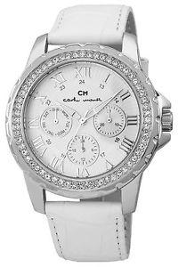 【送料無料】カルロモンティcarlo monti cm600116 orologio da polso donna, pelle, colore bianco r8y