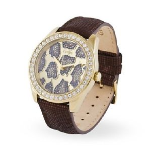 【送料無料】ゴールドウォッチorologio donna guess 3d animal w0056l2 animalier cristalli oro watch women