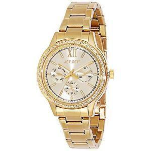 【送料無料】ステンレスカラーセットゴールドjet set j16218722 orologio da polso donna, acciaio inox, colore oro a6x