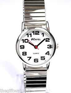 【送料無料】ラヴェルシルバートーンエクスパンダファーストクラスポストravel donna nuovi big numero tono argento expander watch, uk libero prima classe post