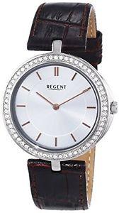 リージェントレザーストラップカラーregent 12090289  orologio da polso da donna, cinturino in pelle colore o6h