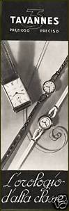 【送料無料】ファッションpubblicita 1940 orologi tavannes 3 watches moda uomo donna orologio da polso