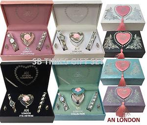 【送料無料】ロンドンネックレスイヤリングブレスレットアンプセットun london donna women gift set con collana, orecchini, braccialetto amp; orologio da polso