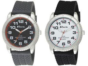 【送料無料】メンズシリコンストラップメートルmens 5atm orologio con cinturino in silicone, impermeabile fino a 50 metri