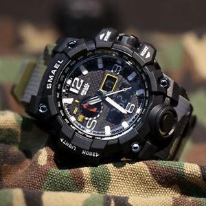 【送料無料】メンズスポーツウォッチカムフラージュmens led camuffamento militare degli impermeabile sport orologio da palso